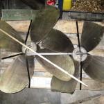 Grundstött propeller