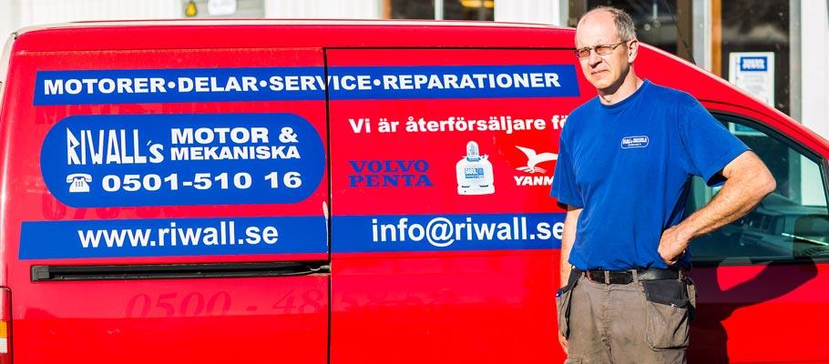 Riwalls motor och mekaniska – servicebil
